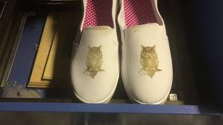 Laser engraved women's shoe