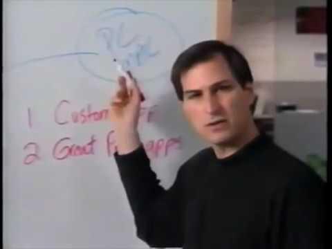 Steve Jobs talks marketing strategy in an internal NeXT vide