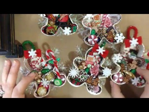 Whimsical Gingerbread Man Cookie Cutter Ornaments!