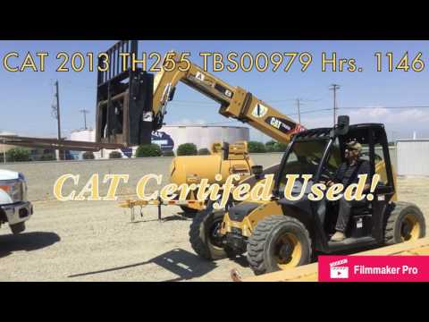 CATERPILLAR MANIPULADOR TELESCÓPICO TH255 equipment video MsZcRZz_VI4