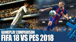 We've played FIFA 18 and PES: 2018 - what are the big gameplay changes and who's going to come out as the top football game...