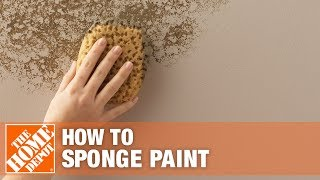 How To Paint Using Sponging Techniques | The Home Depot