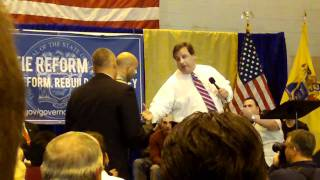 Governor Chris Christie Rips Apart Rude Questioner at Parsippany NJ Town Hall Meeting