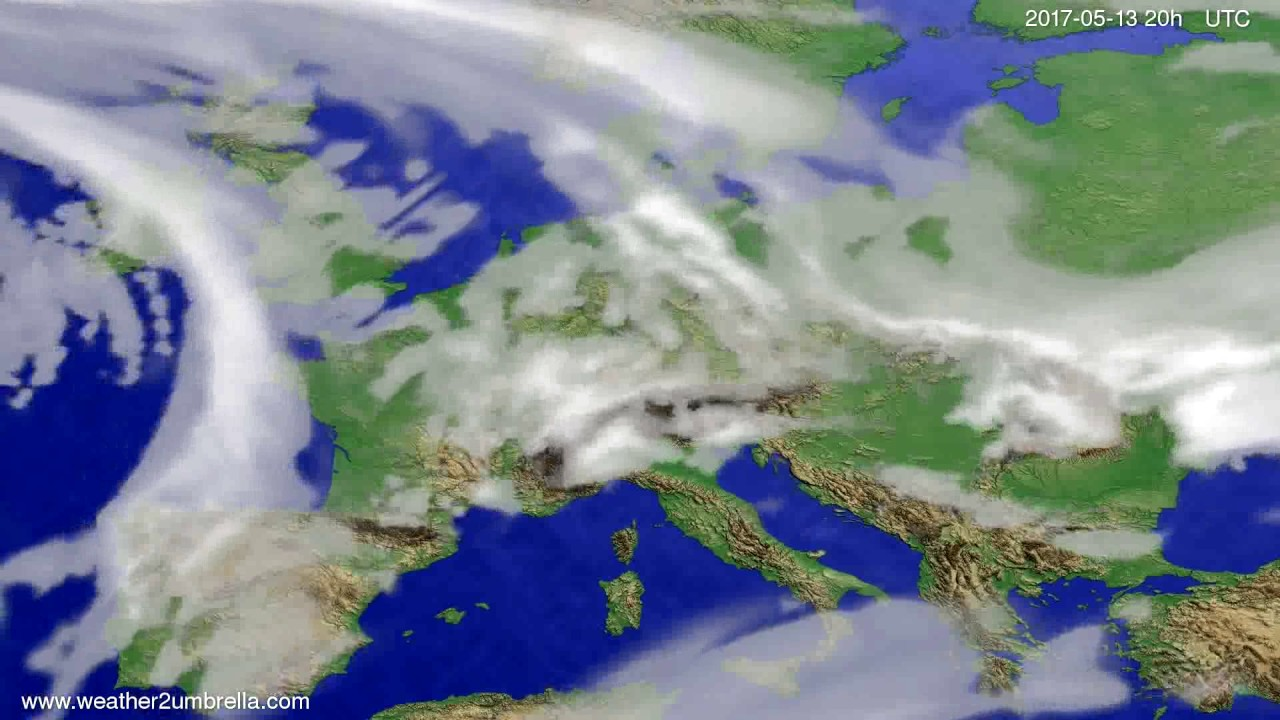 Cloud forecast Europe 2017-05-11