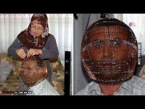 العرب اليوم - شاهد: رجل تركي يضع قفصًا حديديًّا على رأسه