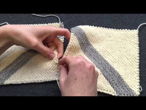 Knitting Joining Seams Garter Stitch : How join two pieces of knitting with crochet Hd Videos Download in 3gp, Mp4