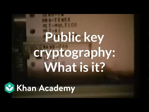 Public key cryptography: What is it?   Computer Science   Khan Academy