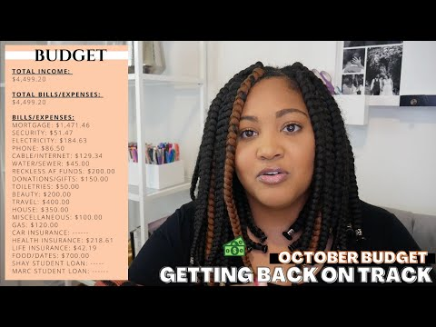 October 2020 Monthly Budget | Budget With Me | GETTING BACK ON TRACK AFTER BEING SUPER RECKLESS LOL