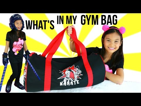 What's in My Gym Bag?  TIANA'S Karate Bag