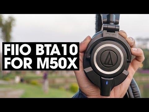 FiiO BTA10 - Biến Audio Technica M50x thành tai nghe bluetooth - Thời lượng: 4 phút, 10 giây.