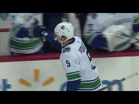 Video: Pouliot scores first as a Canuck against Penguins, his former team