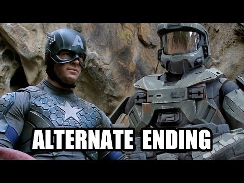 CAPTAIN AMERICA vs MASTER CHIEF - ALTERNATE ENDING - Super Power Beat Down