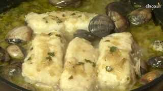 Filets de cabillaud aux palourdes et au vin blanc