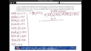 Umh2072 2013-14  Unidad 2 Conceptos De Probabilidad Y Test De Diagnóstico. Problema 6