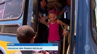 Bauru: crianças sem ônibus escolar
