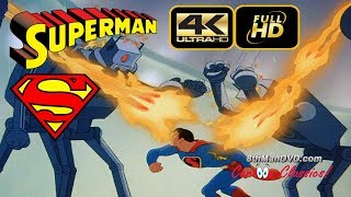 The Mechanical Monsters is the second of the seventeen animated Technicolor short films based upon the DC Comics character Superman. Produced by Fleischer Studios, the story features Superman battling a mad scientist with a small army of robots at his command. It was originally released by Paramount Pictures on November 28, 1941.Streaming up to 4k!8thManDVD.com and all content © 2017 ComedyMX LLC. All rights reserved. Unauthorized use is prohibited.