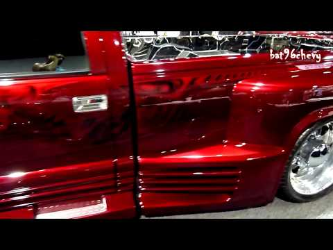Chevy Dually on 24's with Escalade front grille/end: V103 Car Show 2011 - HD