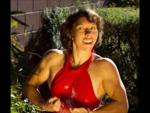Strong Powerful Muscle Woman Flexing BIG Biceps!