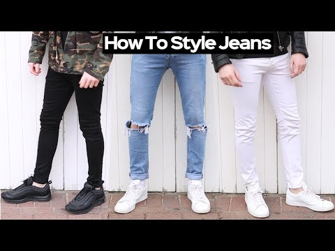 Mens hairstyles - How To Style Denim Jeans Like A BOSS + DIY Knee Ripped Jeans Tutorial 2018