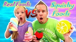 Video GIANT SQUISHIES vs REAL FOOD CHALLENGE!!! The Best Squishy Toys!!! MP3, 3GP, MP4, WEBM, AVI, FLV Desember 2018