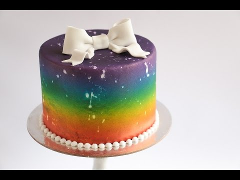 Distressed Airbrushed Rainbow Cake- Rosie's Dessert Spot