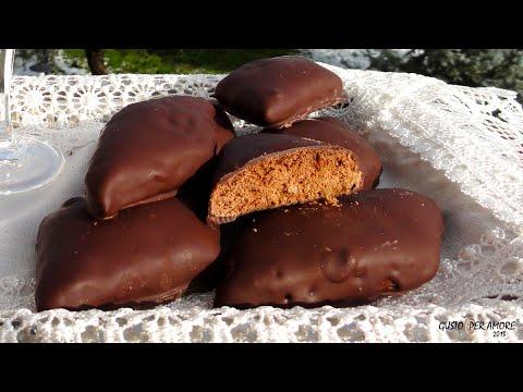 mostaccioli morbidi al cioccolato - ricetta