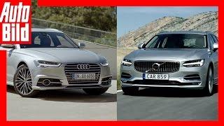 Volvo V90 vs Audi A6 Avant - Review/ Test/ Fahrbericht/ Sound by Auto Bild