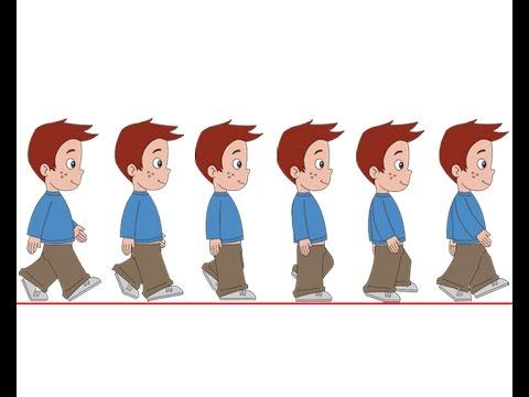 2d walk cycle animation tutorial