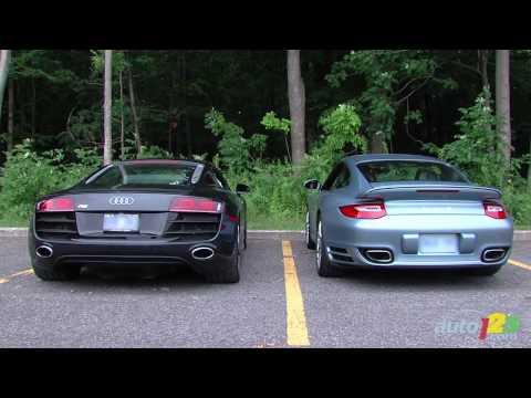 Porsche 911 Turbo S, Audi R8 5.2 FSI quattro