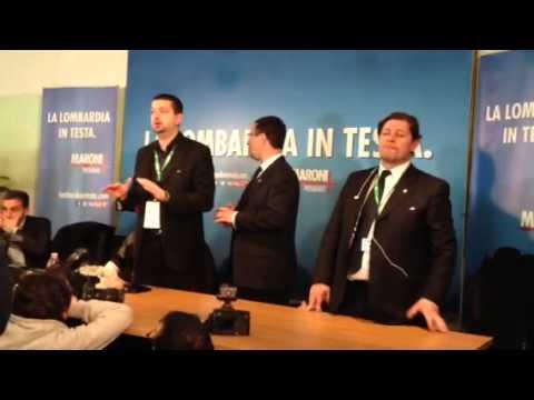 Problema logistico in sala stampa Lega Nord