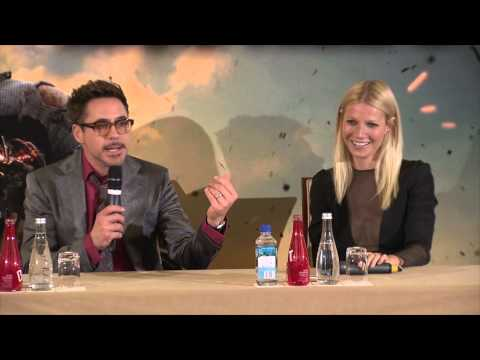 Robert Downey Jr - During Paris press conference for Iron Man 3, Robert Downey Jr. joked about being jealous of Gwyneth Paltrow and the fancy schools where she learned French. ...