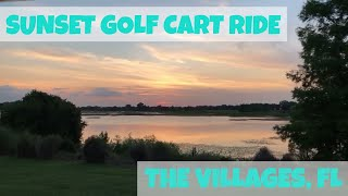 7. Golf cart ride to Florida Sunset in The Villages