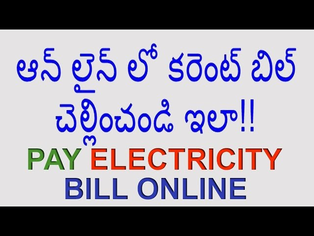 how to pay tax bill online