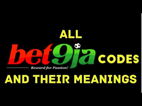 50 BET9ja CODES AND THEIR MEANINGS - TRICKS TO WIN