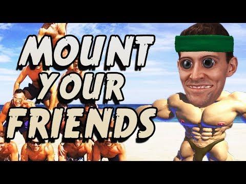 MOUNTIN' MEN - Mount Your Friends 3D Gameplay (видео)