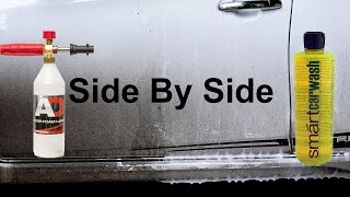 can you use a car shampoo for snow foam?can it foam? will it stick? this is the test!Snow foam is a prewash foam, sprayed onto the car to lubricate and dissolve as much dirt as possible, to help keep the infliction of swirl marks, scratches and abrasions to a minimum. after this, you can sprayed the car again with water/pressure washer, and continue washing by hand.EBAY. comNilfisk C110 : https://goo.gl/LbQuyAAutobrite Foam Lance : https://goo.gl/2WTMiJSmart Car Wash : https://goo.gl/Ms5S6y----------------------------------------------------------------------------------------EBAY UKNilfisk C110 : https://goo.gl/Y7cR1aAutobrite Foam Lance : https://goo.gl/4hLEUcSmart Car Wash : https://goo.gl/Vgu3C9----------------------------------------------------------------------------------------AMAZON U.SSmart Car Wash : http://amzn.to/2chm5dvNilfisk C110 : http://amzn.to/2cRD1HHother Foam Lance : http://amzn.to/2fI2W0v----------------------------------------------------------------------------------------AMAZON U.KSmart Car Wash : http://amzn.to/2cmJ6MlNilfisk C110 : http://amzn.to/2cthFwcAutobrite foam lance : http://amzn.to/2eJNbFf----------------------------------------------------------------------------------------INDONESIAyg mau nitip beli produk dari autobrite atau ebayWhatsApp : +6281361330151----------------------------------------------------------------------------------------Snow Foam Tutorialhttps://www.youtube.com/playlist?list=PL0hmdwdvItIOP0JQZr0oLHwY-JtVfdcrcSnow Foam Shampoo Test Videohttps://www.youtube.com/playlist?list=PL0hmdwdvItIMpY1E_1574-m4msKlcRB3HCar Shampoo in snow foam lance testhttps://www.youtube.com/playlist?list=PL0hmdwdvItIMNJtwT8dHGRys_NSMjIPFpAuto Detailing Product Reviewhttps://www.youtube.com/playlist?list=PL0hmdwdvItINwDvIxPWpgYnAxj1qMSW-Q