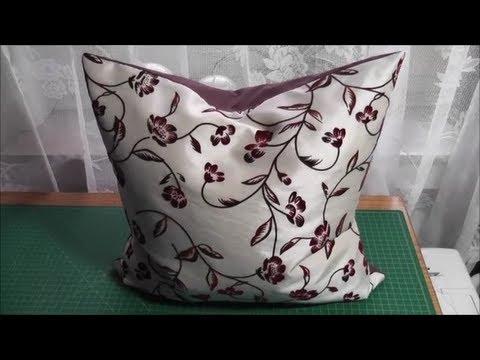 Quadratisches Kissen, Kissenbezug, Kissenhülle mit Reißverschluss selber nähen