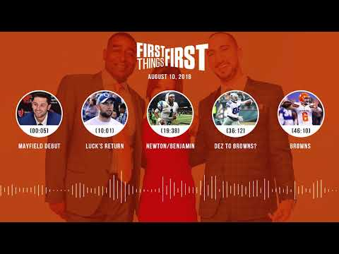 First Things First audio podcast(8.10.18) Cris Carter, Nick Wright, Jenna Wolfe | FIRST THINGS FIRST