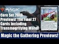 MTG Core Set Previews: The Last 27 Cards Including Transmogrifying Wand