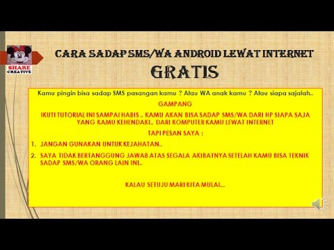 CARA MUDAH SADAP SMS ATAU WA GRATISS LEWAT INTERNET