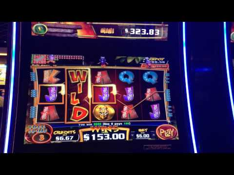 $6 Conga Party Slot Machine Bonus Big Win Max Bet