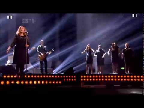 Texhnician - Adele performing Rolling In The Deep at the BRIT Awards 2012.