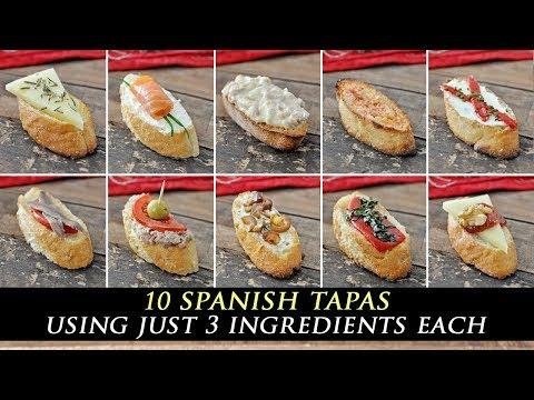 10 Incredible 3-INGREDIENT Spanish TAPAS