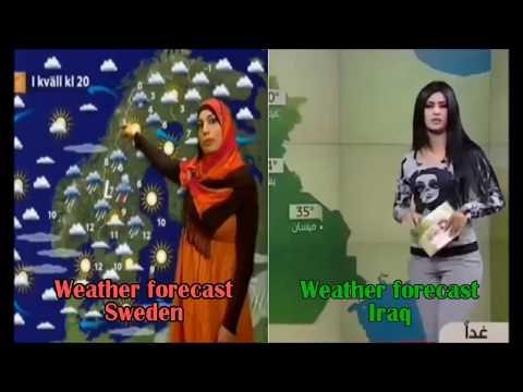 Прогноз погоды в Швеции и в Ираке