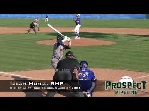 Izeah Muniz Prospect Video, RHP, Bishop Amat High School Class of 2021