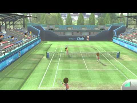 Wii Sports Club Online Multiplayer Tennis Match with Best Man Joseph 2