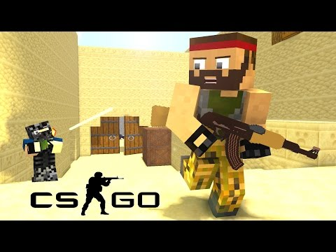 If Minecraft was like Counter-Strike ! - Craftronix Minecraft Animation (видео)