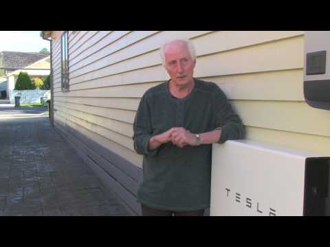 Tesla Powerwall 2 battery in Moreland video