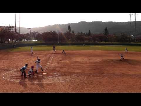 東風平中学校野球部 20170122 新人大会 南風原戦 仲座フェンス直撃3塁打