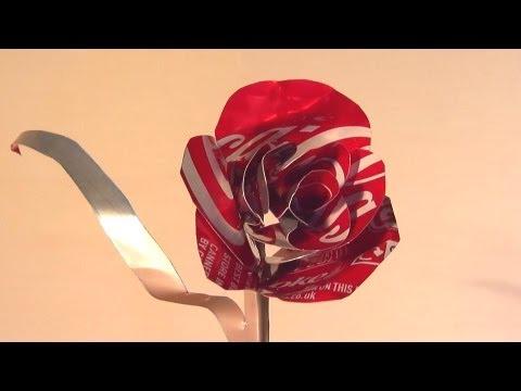 教你怎麼用可樂罐,做成一朵超美的玫瑰花!!